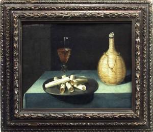 Любен Божен. Десерт с вафлями, 1630 - 1635