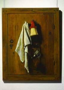 Самюэл ван Хогстратен дверца шкафа с туалетными принадлежностями 1655