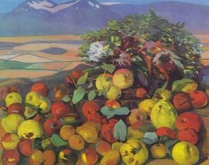 Мартирос Сарьян. Осенний натюрморт. Зрелые фрукты.