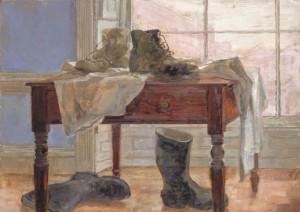 Ботинки на столе