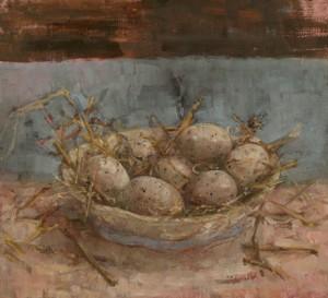 Яйца птицы лысухи