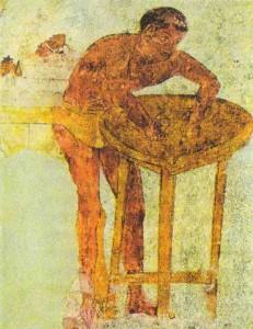 Приготовление к банкету. Фрагмент росписи грота Голини в Орвьето, IV век до н.э.