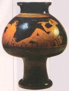 Евфроний. Пирующие гетеры. Краснофигурный псиктер. VI век до н.э.