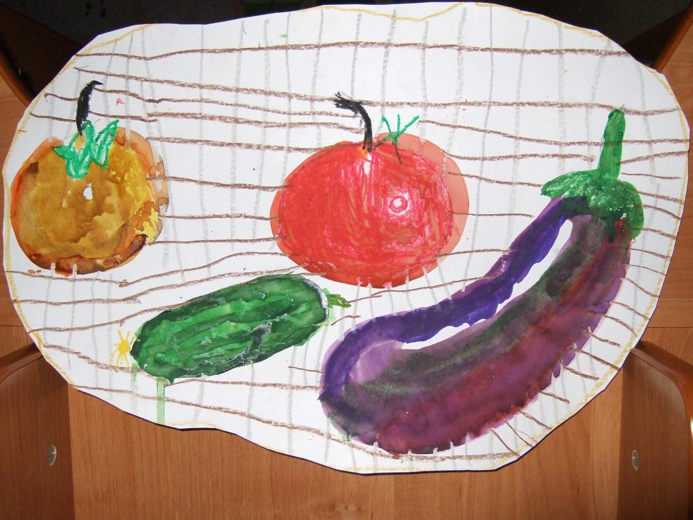 Детские картинки осенний натюрморт