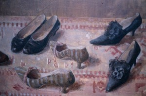 Туфли на ковре