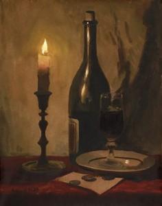 С. Андрияка. Натюрморт Бокал вина. 2000 г.
