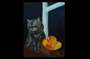 Натюрморт с котом.