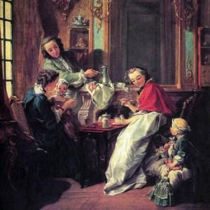 Франсуа Буше. Завтрак 1739. Музей Лувр, Париж.