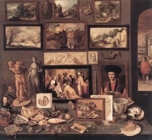 Франс Франкен. Комната искусств. 1636 дерево, масло, 74 x 78 см. Историко-художественный Музей, Вена.