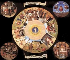 И.Босх. Семь смертных грехов. Музей Прадо.