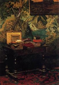 Клод Моне. Натюрморт в мастерской. 1861 год.