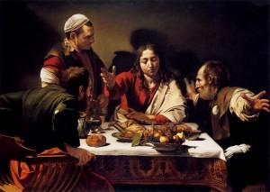 Ужин в Эммаусе. 1601, х.м., 141 x 196 см National Gallery, London