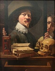 Антуан Стинуинкл (Antoine Steenwinkel) Натюрморт с автопортретом, сер. XVII века.