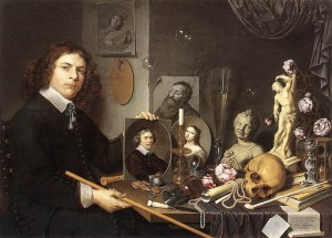 Дэвид Байли. Автопортрет с символами vanitas.