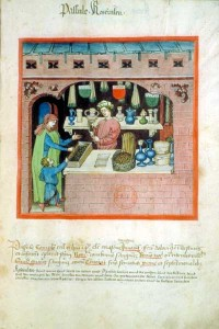 Французский манускрипт. Продавец специй.
