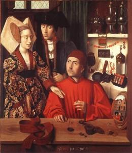Петрус Кристус. Св.Элигий. 1449, дерево, масло. Метрополитен музей, Нью-Йорк