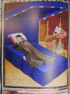 """Иллюстрация к книге """"Путешествие души"""" XV век, Франция, прегамент, 210-270 мм"""
