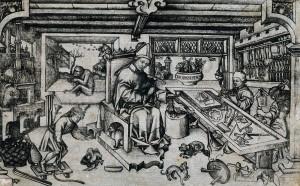 Мастерская св. Элигия. Неизвестный мастер 15 век, 11,5 x 18,5 см. Рейксмузеум, Амстердам. а