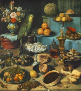FLEGEL, Georg Still-life with Parrot