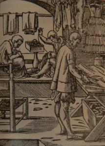 Мастерская портного. Гравюра, конец XVI века