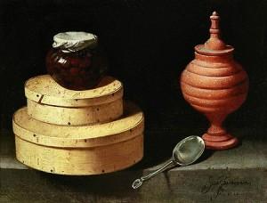 Хуан Ван дер Хамен и Леон. Натюрморт с коробками для сладостей 1621 г.
