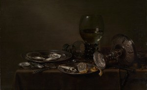 Still Life with Oysters, a Silver Tazza, and Glassware, 1635 Willem Claesz Heda (Dutch, ca. 1594–1680) Oil on wood, The Metropolitan Museum of Art