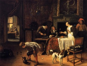 Jan Steen Easy Come, Easy Go 1661, Museum Boymans van Beuningen, oil on canvas