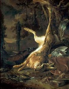 Ян Баптист Веникс. Натюрморт с битой дичью, 55  x 71 cм
