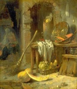 Виллем Кальф. Интерьер кухни.