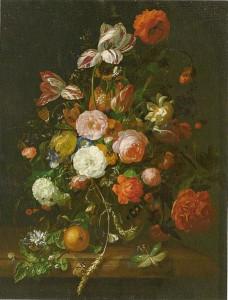 Рахель Рюйш. Цветочный букет. 1708