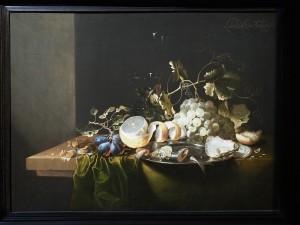 Лоуренс Крен. Гаага 1620 - Мидделбург 1663/70. Натюрморт с лесными орехами, виноградом и устрицами