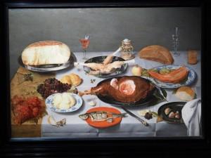 Якоб ван Хюлсдонк. Стол с сыром, селдью и ветчиной
