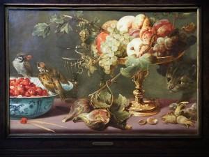 Frans Snyders (1579-1657). Франс Снайдерс. Натюрморт с птицами, фруктами и кошкой.