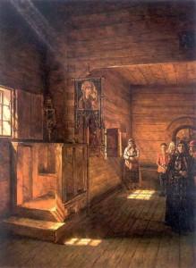Внутренний вид церкви Иоанна Богослова на Ишне близ Ростова Ярославского