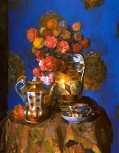 """Н.Н. Сапунов """"Цветы и фафор"""", 1912"""