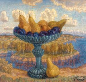 Орлов И.М. Натюрморт с грушами, 2003, холст, масло, 110х120