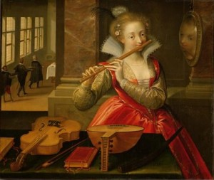 Allegory of Music by Dirk de Quade van Ravesteyn