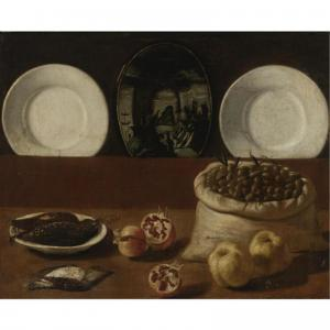 Paolo Antonio Barbieri  Still Life with plates 1640